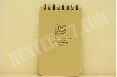 """Rite In The Rain All Weather Tactical Pocket Notebooks 935T , 3"""" L x 3"""" W x 5"""" H, Tan"""