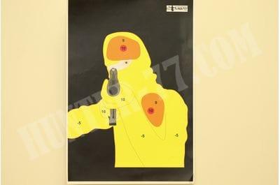"""Мишень 13""""x19"""" Тактическая Злодей-снайпер цветная"""