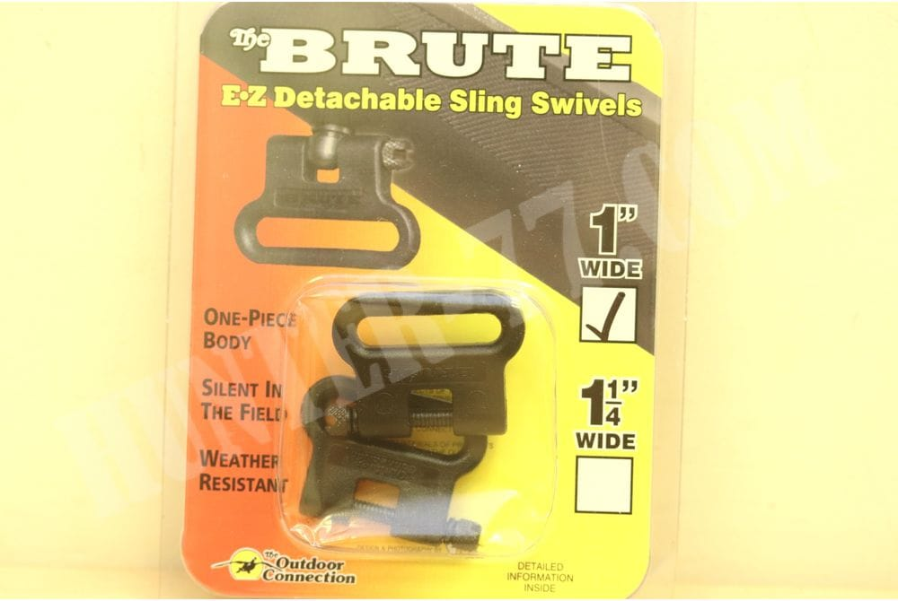 Антабки The Outdoor Connection Brute 1-Inch Swivel Set, Black 1.25-inch