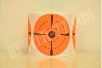 """Мишени 3"""" 100 штук Самоклейка флюоресцентная оранжевая"""