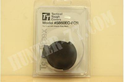 Tenebraex Tactical Tough Flip Cap w/ Adaptor Ring for Schmidt and Bender PMII 50 mm Scopes SB50EC-FCR