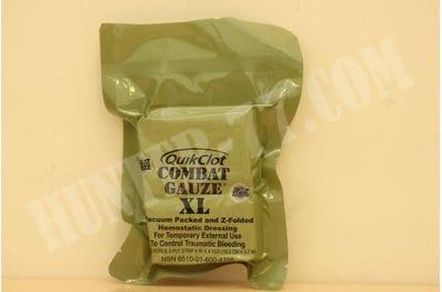 Бинт кровоостанавливающий QuikClot Combat Gauze XL Комбат Гаузе