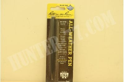 Rite in the Rain Weatherproof Black Metal Tactical Clicker Pen - Blue Ink (No. 97B)