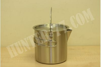 1.5L / 2.0L 52 / 68 Oz Stainless Steel Camping Pot Cooking Kettle