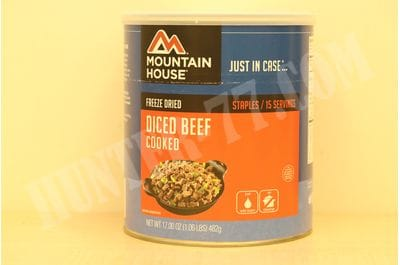 Mountain House Cooked Diced Beef #10 Can 15 servings