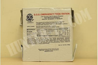 S.O.S. Rations Emergency 3600 Calorie Food Bar Coconut