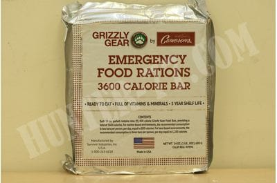 Emergency Food Rations 2 Pack - 3600 Calorie Bar - 6 Day Supply - Less Sugar and More Nutrients Than