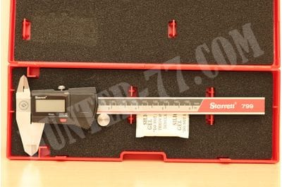 "Starrett EC799A-6/150 Electronic Caliper, Stainless Steel, 0.0005"" Resolution and 0""-6"" Measuring Range, Black"
