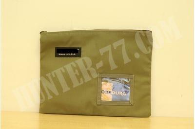 Coyote Tan 14x11-Inch Cordura Ballistic Nylon Zipper Bag Made in USA