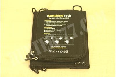 Солнечное зарядное устройство 15W iSunshineTech