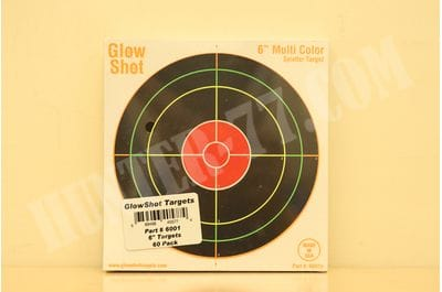 "6"" Reactive Splatter Targets 60 Pack Gun and Rifle Targets GlowShot Targets"