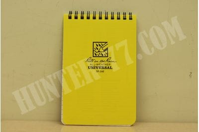 "4"" x 6"" N146 Rite in the Rain All-Weather Top-Spiral Notebook, 4"" x 6"", Yellow Cover, Universal Pattern No. 146"