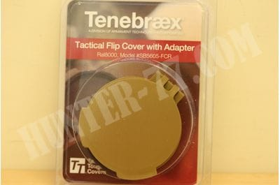 Tenebraex Objective Flip Cover w/ Adapter Ring for 56mm Schmidt and Bender Scopes