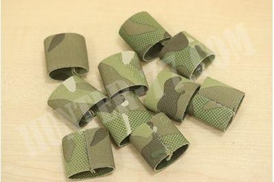Wide Military Elastic Webbing Keepers (10 Pack)
