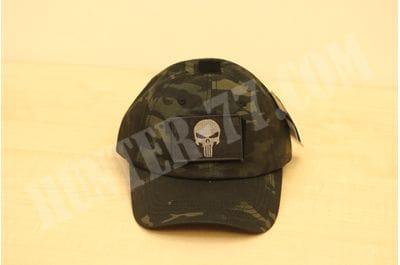 Бейсболка Condor MULTICAM-BLACK Punisher/DTOM patches
