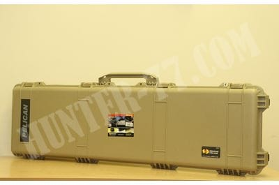 Pelican 1750 Rifle Case With Foam Desert Tan