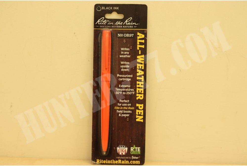 Оранжевая ручка Rite In The Rain с черной пастой № OR97