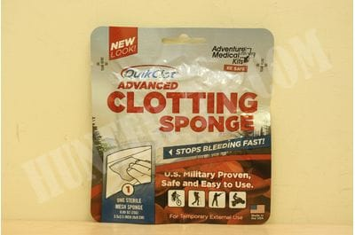 Adventure Medical Kits Advanced Clotting First Aid Hemostatic Sponge with Zeolite