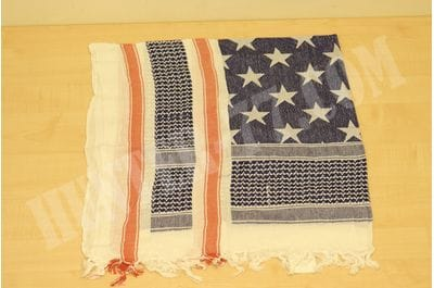 Rothco Stars and Stripes Shemagh Tactical Desert Scarf, Red/White/Blue