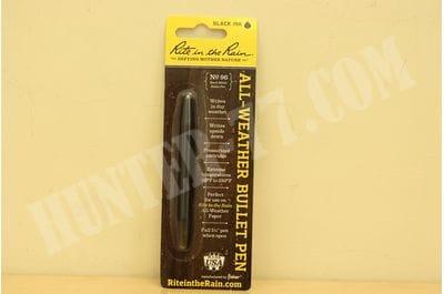 Rite in the Rain Weatherproof Black Metal Bullet Pen - Black Ink (No. 96)