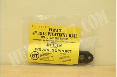 "Accu-Shot Atlas Picatinny Rail Adapors BT17: 4"" 1913 Rail"