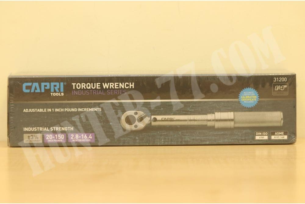 """Динамометрический ключ Capri Tools 31200 20-150 Inch Pound  1/4"""" Drive"""