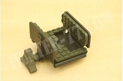 Платформа-зажим PIG SADDLE Shadow Melonite Finish, OD Green Pads & Aluminum Knob на Манфротто для винтовки