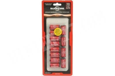 Батарея 12 штук в блистере SureFire SF123A lithium batteries CR123A