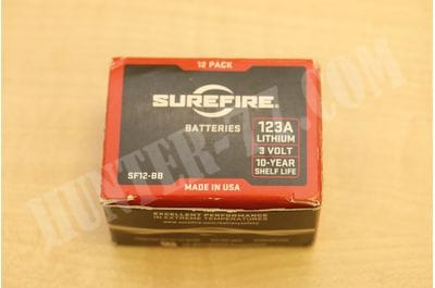 SureFire SF123A Batteries - 12 (Clamshell Packaging)  lithium batteries CR123A