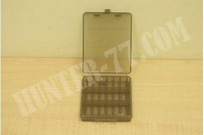 Коробка MTM на 18 патронов 9 мм прозрачная