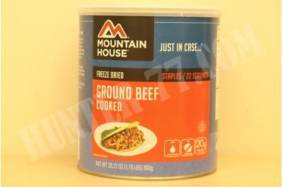Mountain House Cooked Ground Beef # 10 Can 22 servings