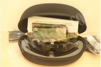 Oakley SI Ballistic M-Frame 3.0 Shooting Glasses Multicam Frame/Clear + Gray