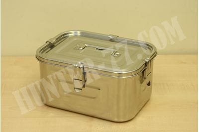 Stainless Steel 168 oz (5L) Rectangular Seal Kimchi Food Leakproof Airtight Storage Container Saver