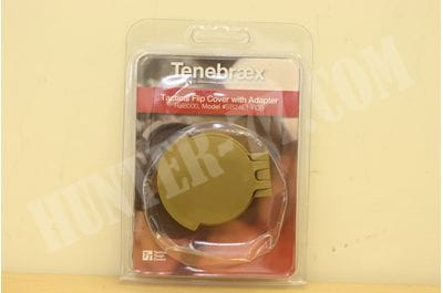 Tenebraex Tactical Tough Flip Cover With Adapter Ring Ocular Ral 8000 to Fit S&B 1-8x24 PM II Short Dot SB24E1-FCR