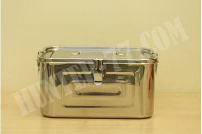 Stainless Steel Rectangular Kimchi Food Storage Container 5L / 168oz / 10.6""