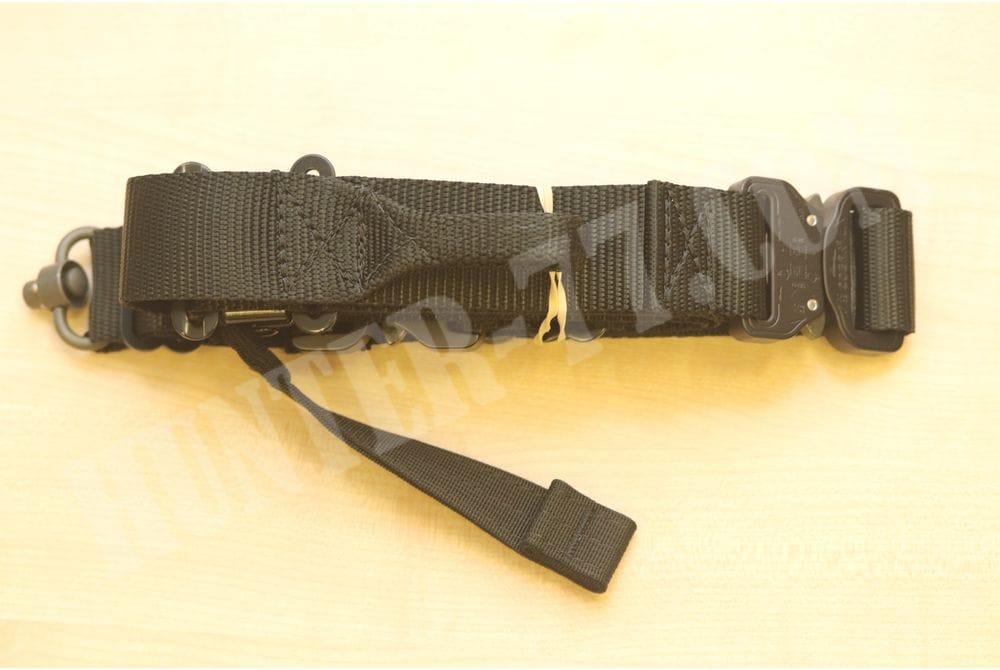Ремень TAB Pinnacle PRS Flush Cups QD Черный кобра металл для винтовки