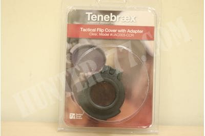 Tenebraex Ocular Clear Flip Cover w/ Adapter Ring for Leupold, Zeiss, and Hensoldt Scopes UAC003-CCR