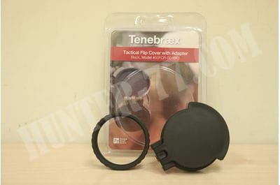 Tenebraex Objective Flip Cover w/ Adapter Ring for 50mm Objective Lens 50FCR-001BK1