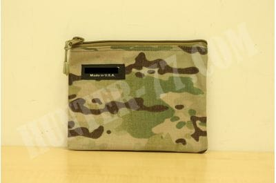 Multicam  8 x 6 - Inch Cordura Ballistic Nylon Zipper Bag Made in USA
