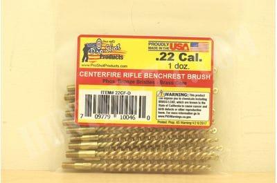 Бронзовый ерш 12 штук .22LR/.22Cal. Rimfire Rifle Brush Pro-Shot 22R-D