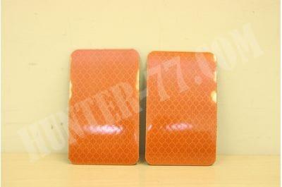 Светоотражащий оранжевый патч на велкро 2х3,5 дм
