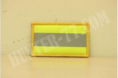 """Светоотражающий патч желтый с белой полосой 2""""х3.5"""""""