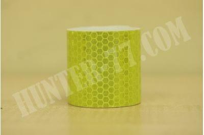 Светоотражающая желтая лента-самоклейка 5 см х 3 м