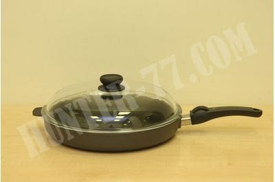 Hoffmann extra large cast aluminum frying pan 32 cm with lid induction 4.5 cm inside height