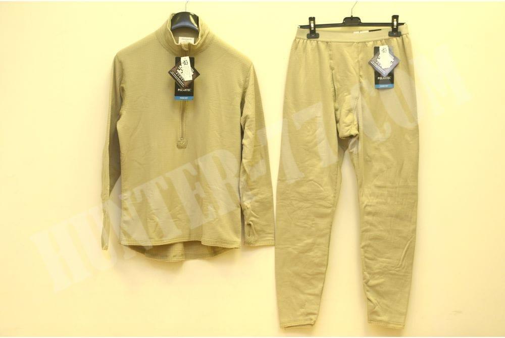 L2 Теплое термобелье Tan рубашка-кальсоны Слой 2 GEN III ECWCS