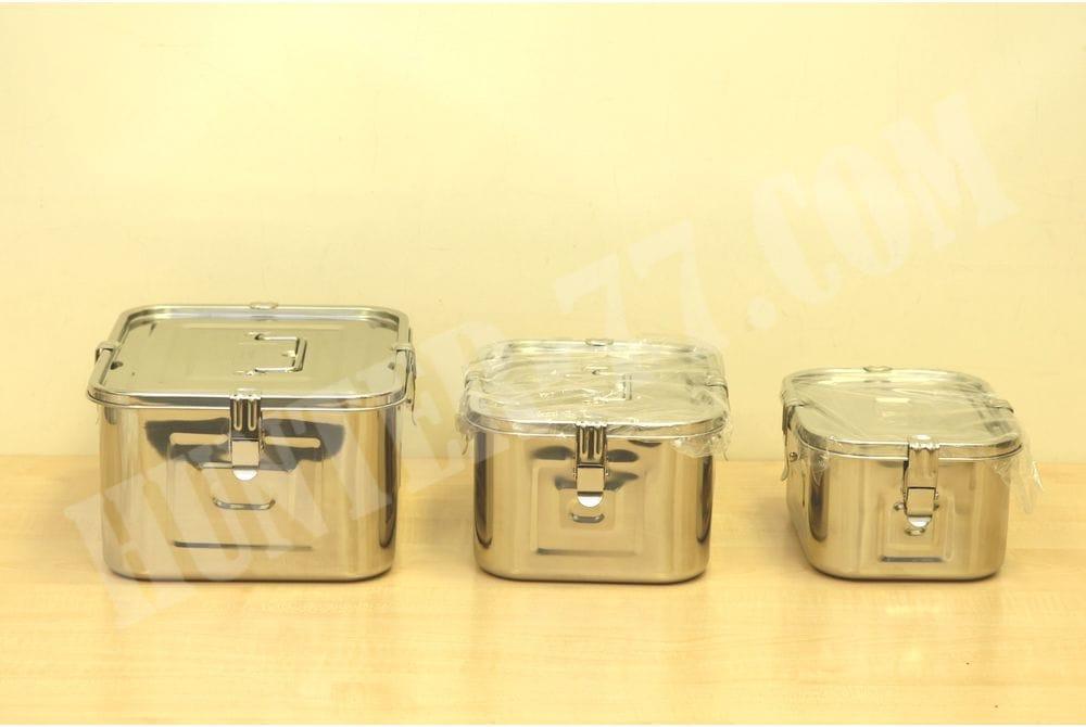Комплект стальных герметичных контейнеров 3+5+8 литров