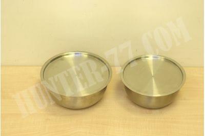 Комплект 2 стальных миски 2.5 и 3,0 литра