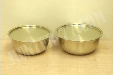 Комплект 2 стальных миски 2.5 и 3,0 литра желтые