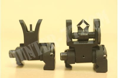 Micro Set - M4 Front and Dioptic Rear  Troy Industries - BLK SSIG-MCM-SSBT-00