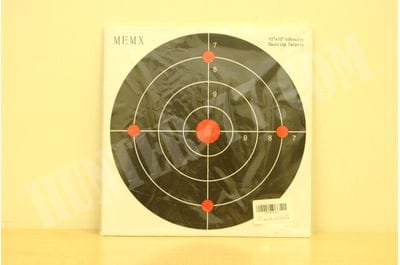MEMX Reactive Target Stickers - 10 inch Self Adhesive Shooting Targets - High Visibility Impact - Gun Targets for Rifle